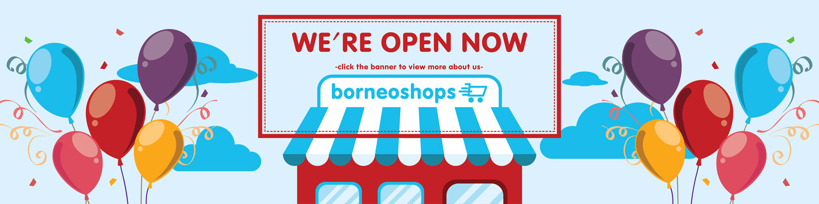borneoshops.com - We're Open Now