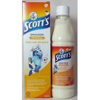 Scott's Emulsion Cod Liver Oil Extra ORIGINAL (MALAYSIA) 400 ml